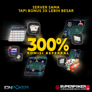 Bonus Poker IDN Referral 3X Lipat